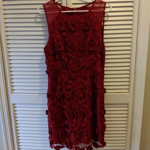 Urban Outfitters red crochet lace sheath dress